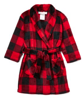 Buffalo check robe