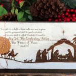 Wood Nativity Sign