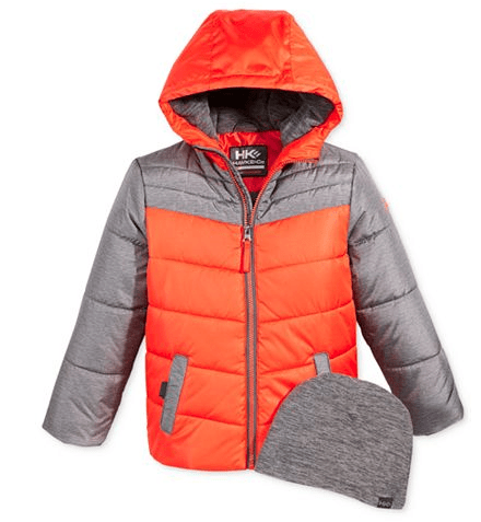 Boys Puffer Coat with Hat