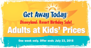 Disneyland Birthday Sale