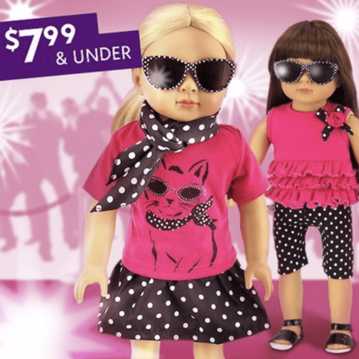 American Girl Doll Size Clothes, Accessories & More