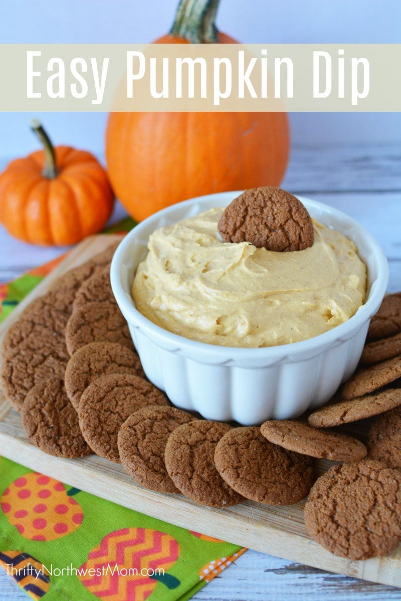 This Easy Pumpkin Dip is a sure to be a hit at any Halloween, Thanksgiving or fall parties you bring it too.