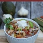 This White Chicken Chili is a healthier, lighter version for the slow cooker and perfect for busy nights