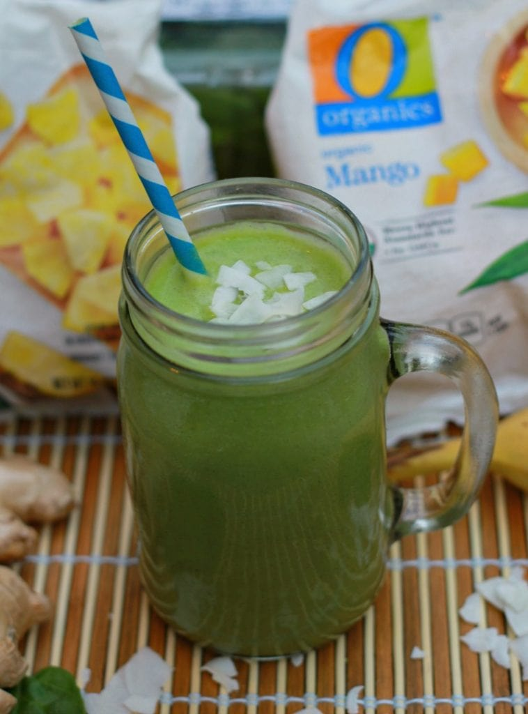 Tropical Green Smoothie with Coconut is an immune booster that kids will love