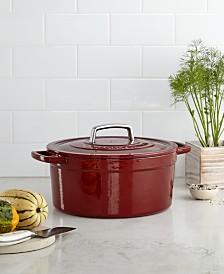 Martha Stewart Enameled Cast Iron 6- Quart Casserole Pot – $49.99!