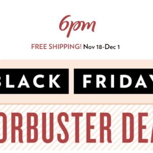 6pm Black Friday Sale