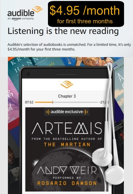 Audible discount coupon