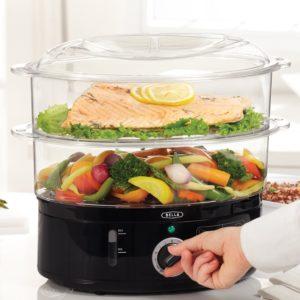 BELLA 7.4 Quart Dual Basket Food Steamer