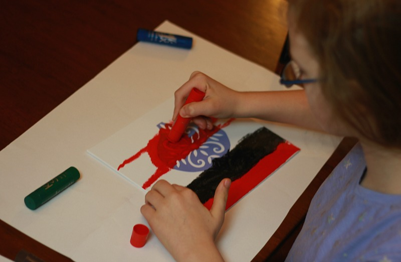 Christmas Silhouette Craft with Kwik Stix Paint Sticks