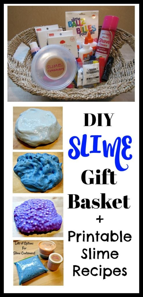 Slime Kits – Gift Baskets (Parents: Everything Your Kids Want You To Know) & Printable Slime Recipes