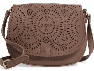 Dakota Faux Leather Saddle Bag