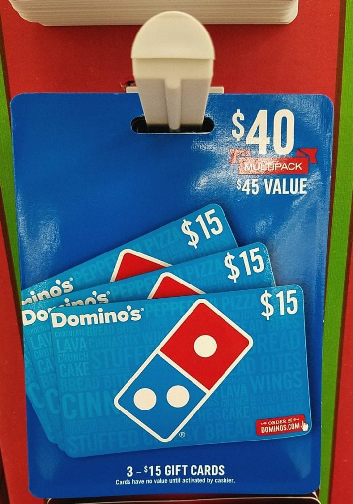 Dominos Bonus Gift Card at Walmart