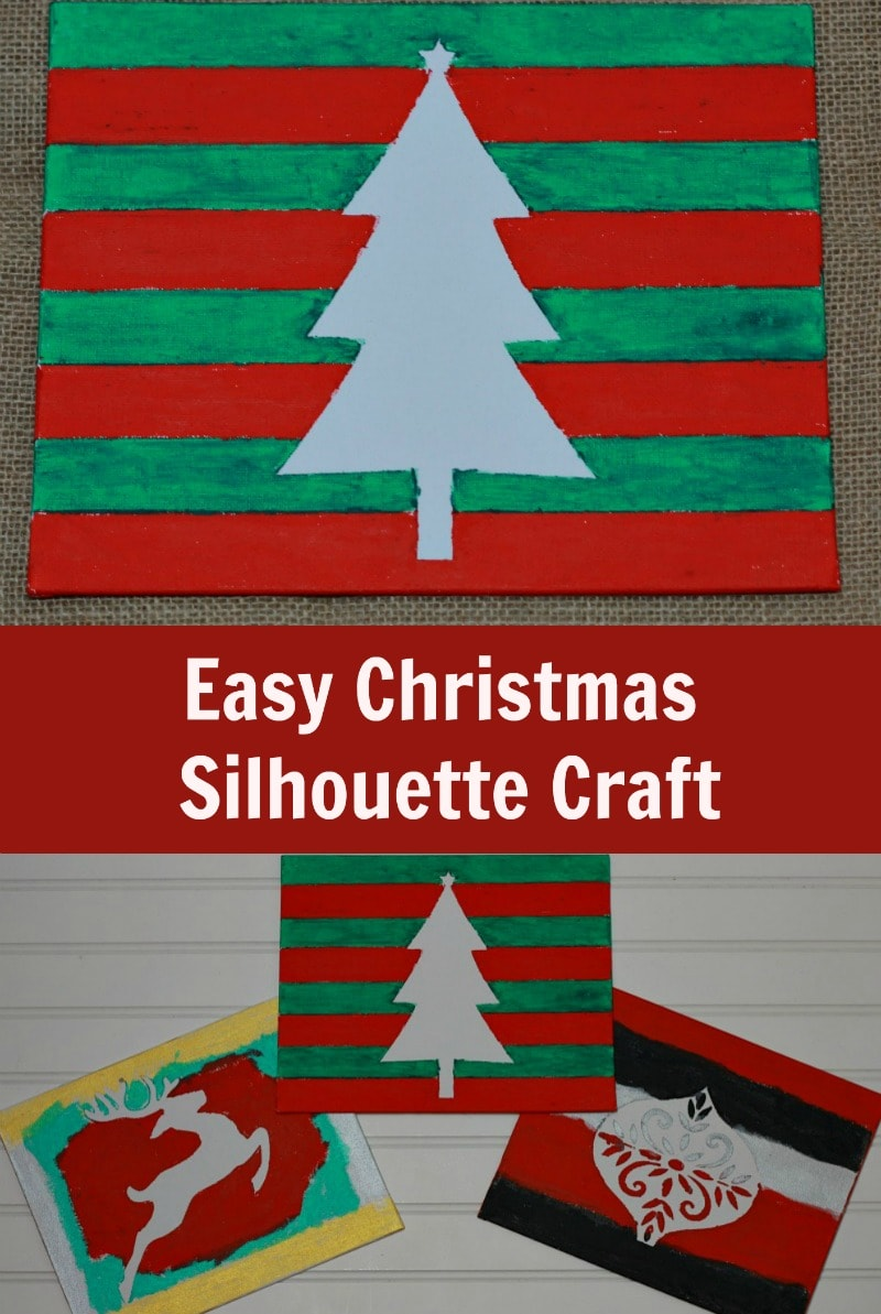 This Easy Christmas Silhouette Craft for Kids is a simple craft for kids to make for a fun Christmas activity with family or friends and mess-free with Kwik Stix paints.