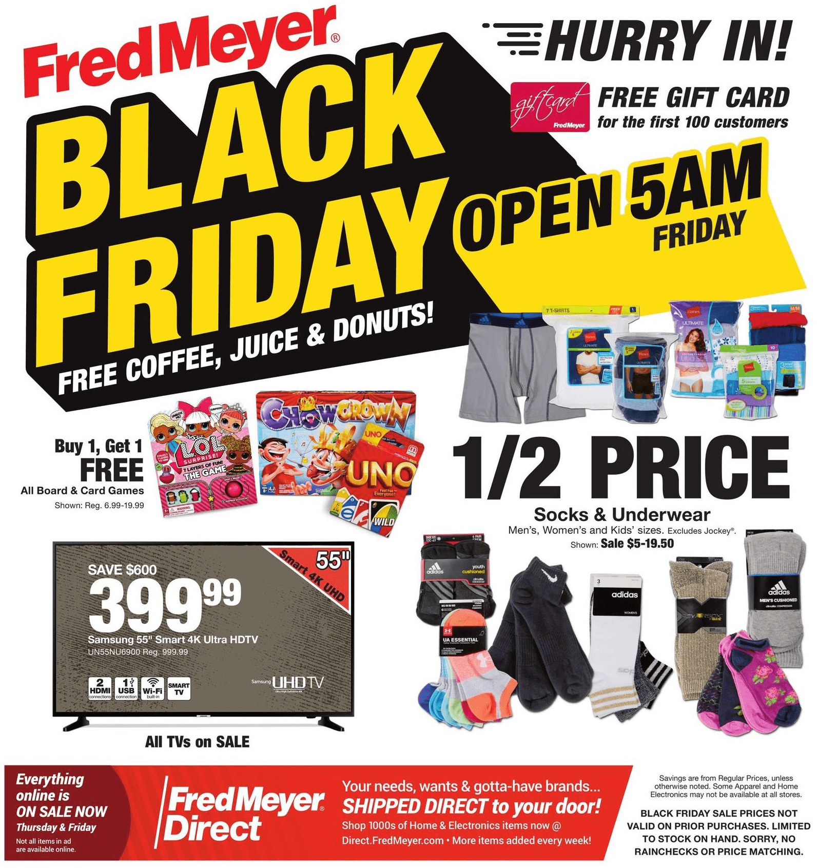 Fred Meyer Black Friday Deals For 2018 1 2 Price Socks