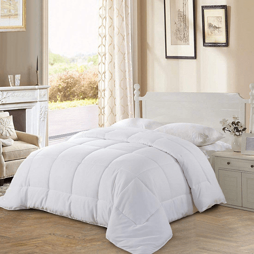 Goose Down Alternative Microfiber Quilted Reversible Comforter