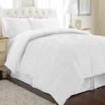 Goose Down Alternative Microfiber Quilted Reversible Comforter