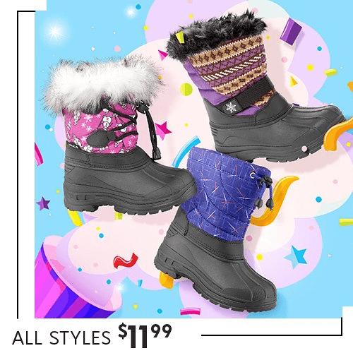 Kids Snow Boots – $11.99!