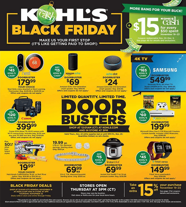 Kohls Black Friday Deals