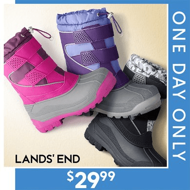 Lands End Kids Snow Plow Boots