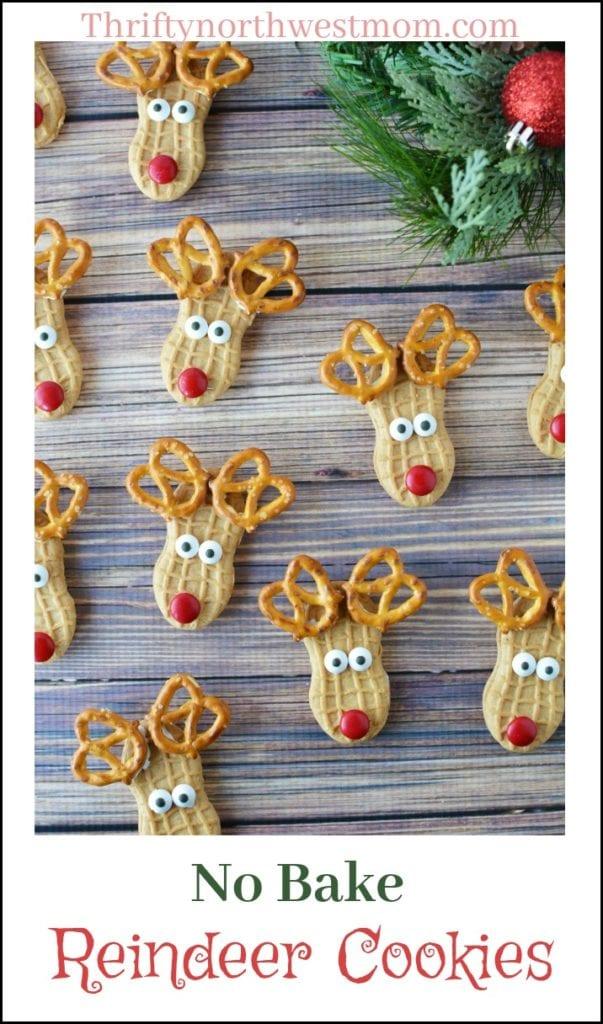 Christmas Cookie Recipes: No Bake Reindeer Cookies – So CUTE!