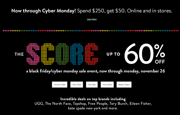 Nordstrom Cyber Monday Sale! Spend $250 Get $50!