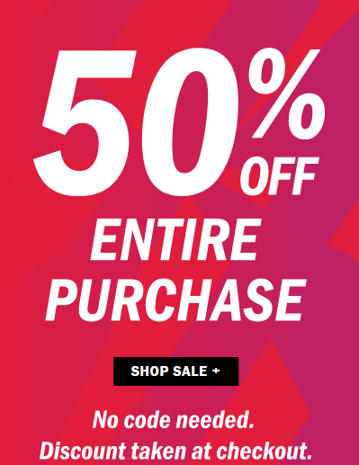Old Navy Black Friday Sale – 50% Off Your Entire Purchase!!