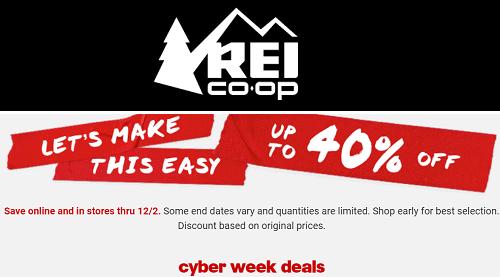 REI Cyber Week Sale