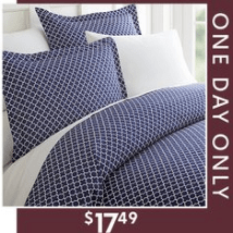 3 Piece Duvet Cover Set – $17.49 for any Size – Today only!