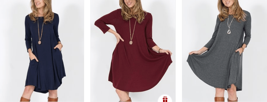 Tunic Sweater Dress with Pockets