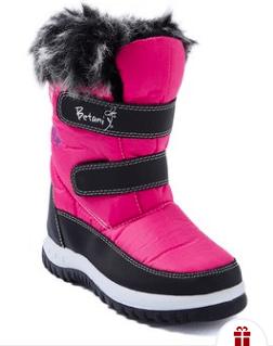 Fuschia Faux Fur Snow Boot