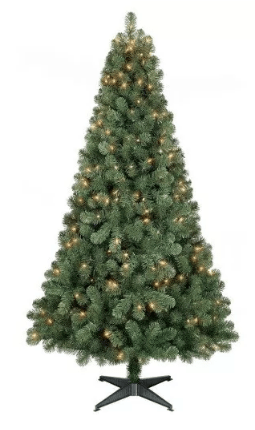 Artificial Christmas Tree Sale - 6 Ft Pre-Lit Alberta Spruce for ...