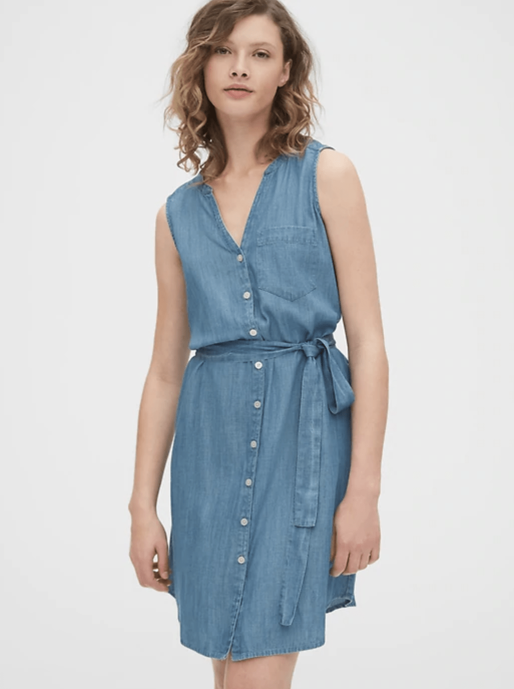 Sleeveless Shirtdress