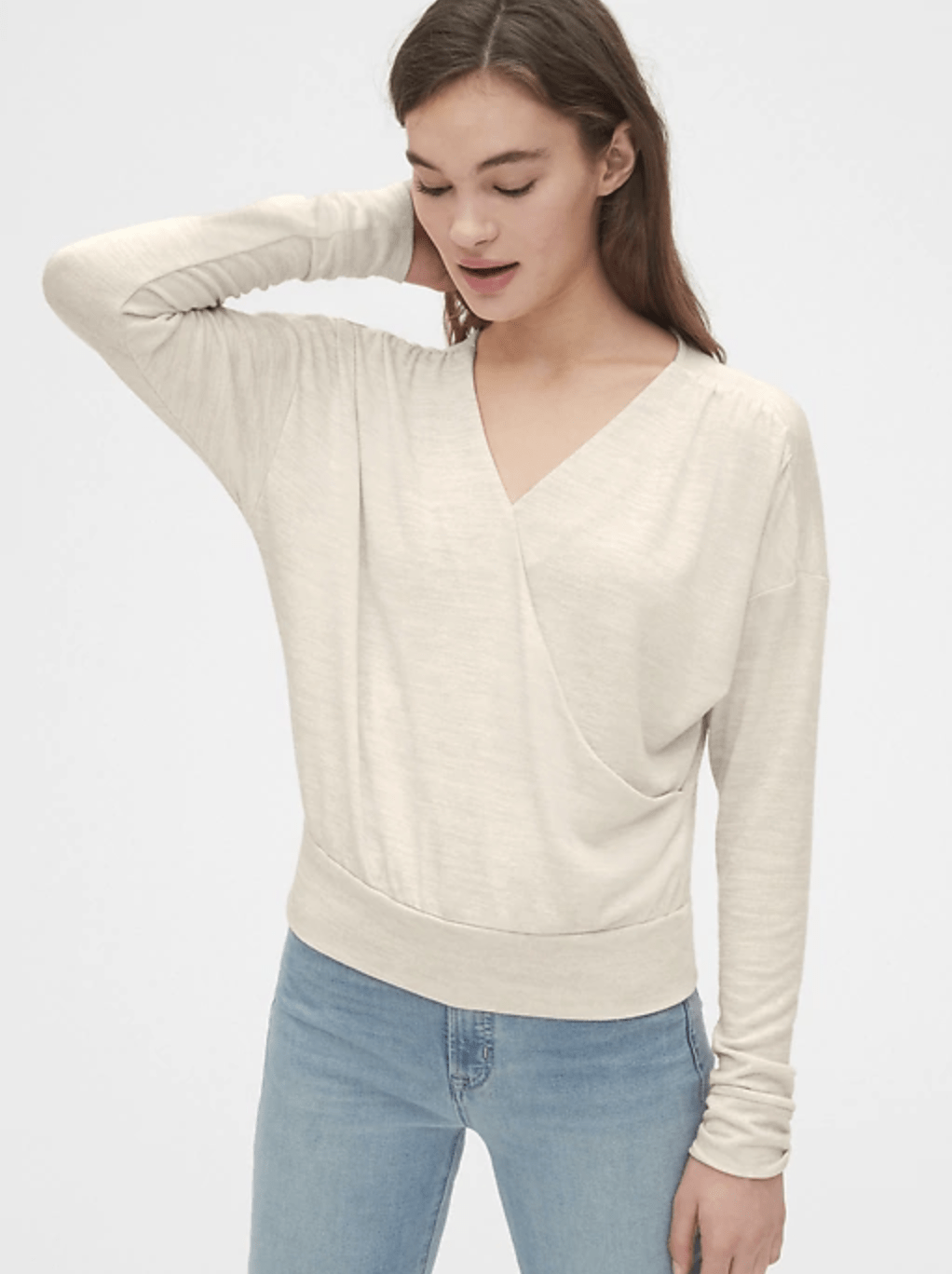 Softspun Wrap Front Top