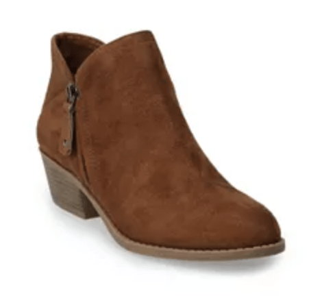 Womens Suede Booties