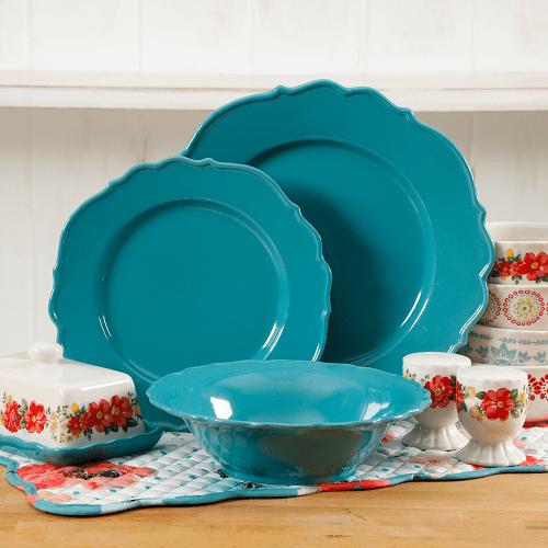The Pioneer Woman Vintage Ruffle 20-Piece Dinnerware Set