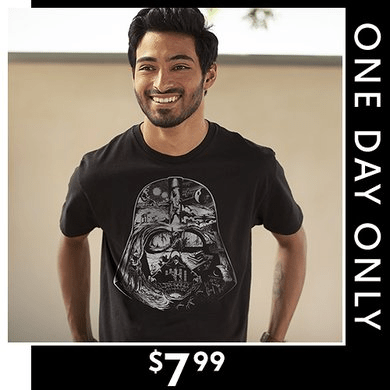 Top Star Wars Tees for Men $7.99 (Today Only)