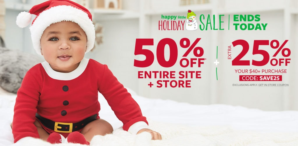 Carter's 50% Off Sale- Deals on Everything + 25% Off Purchases of $40 & up!