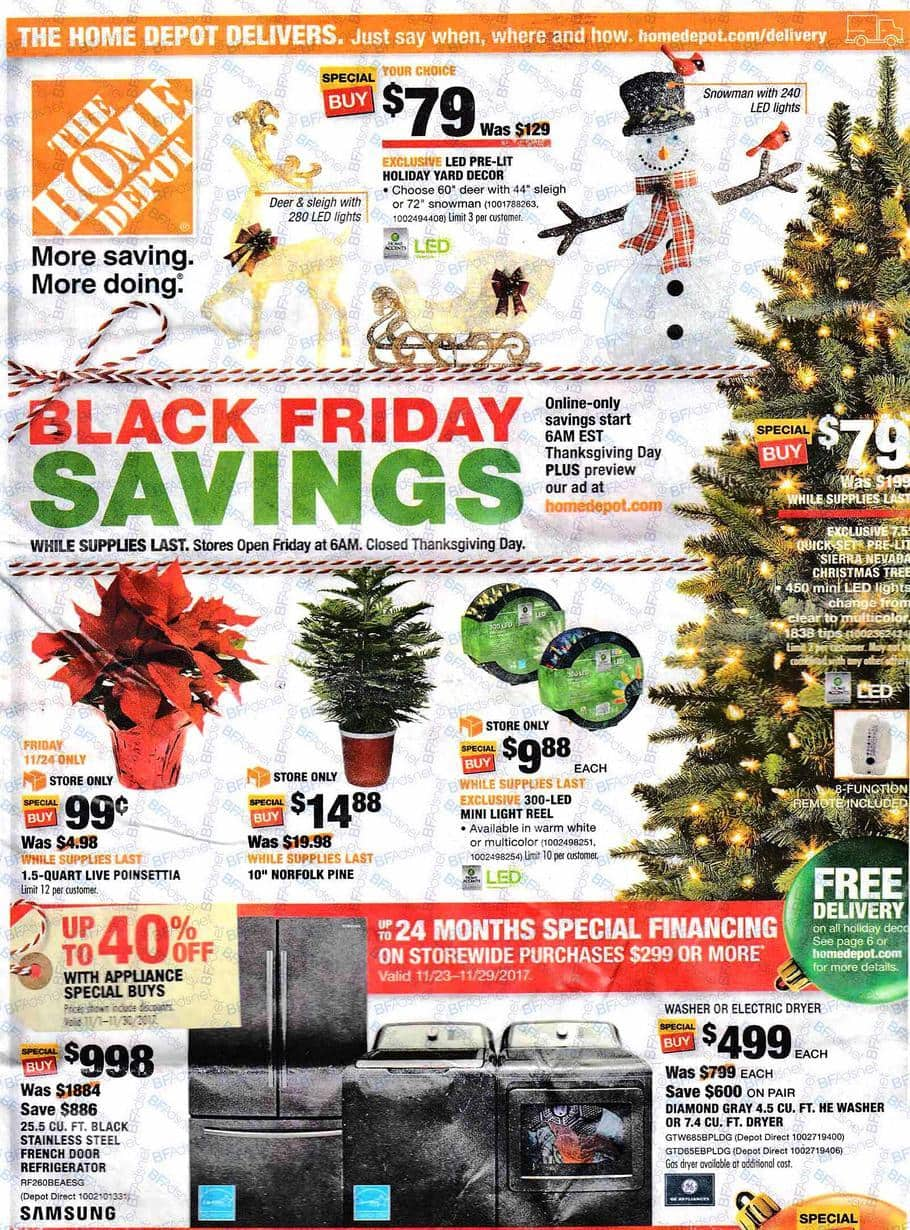 home depot black friday deals for 2017 99 poinsettias more thrifty nw mom. Black Bedroom Furniture Sets. Home Design Ideas
