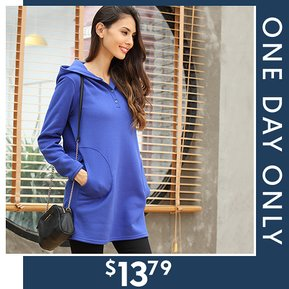 Pullover Hoodies with Pockets $13.79 – Today Only