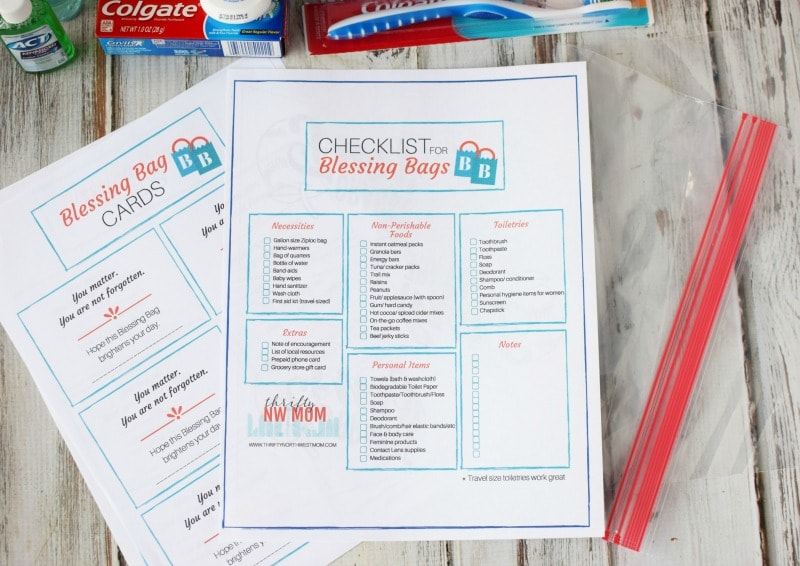 Blessing Bag Free Printable Checklist