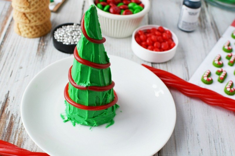 Christmas Tree Cones with Licorice