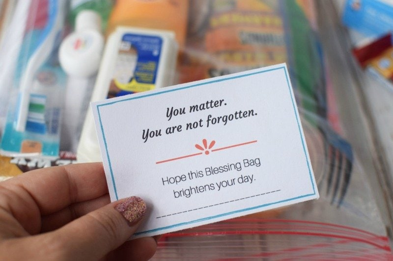 Free Printable Blessing Bag Encouragement Cards