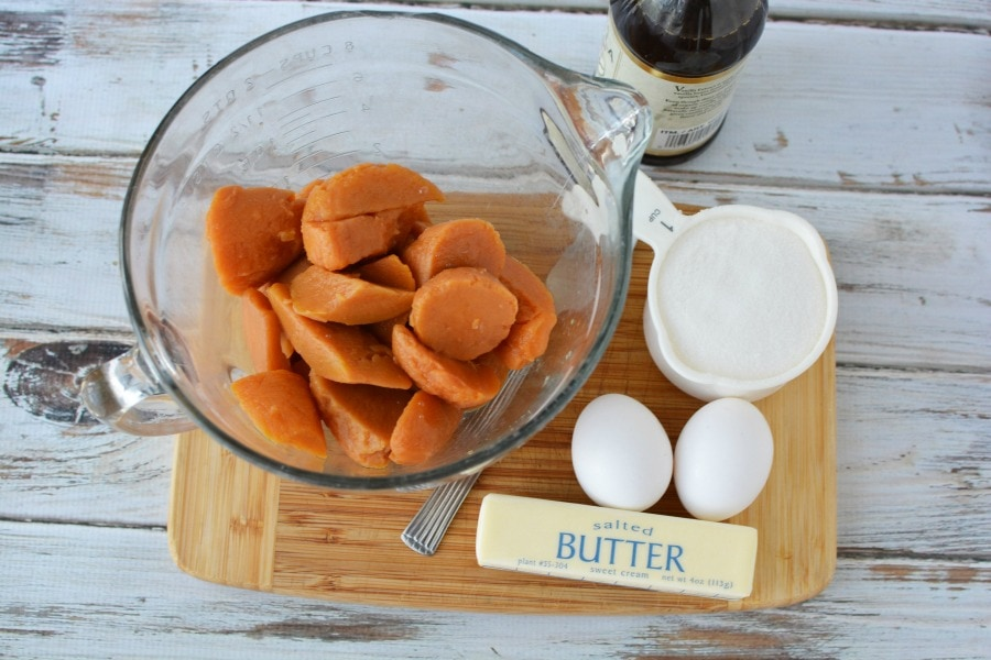 Ingredients for Crunchy Sweet Potato Casserole