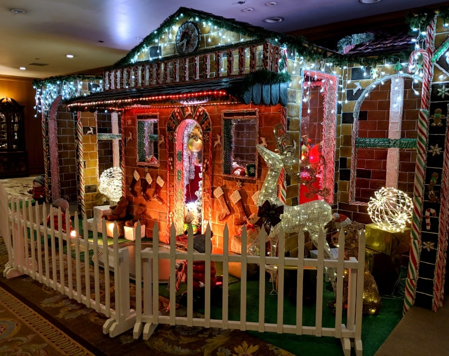 Life Size Gingerbread House at Fairmont Olympic in Seattle