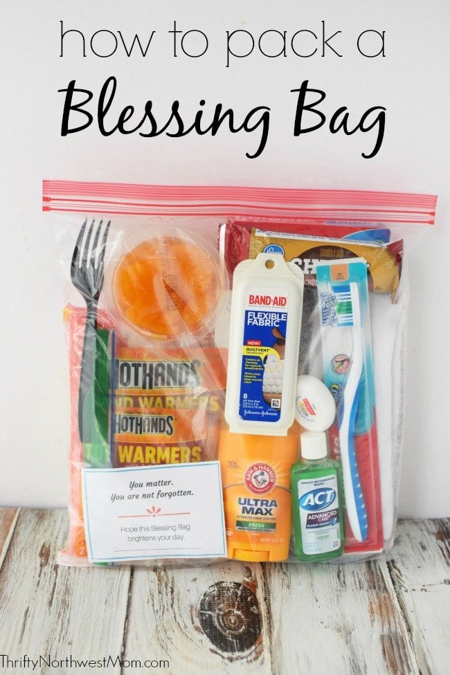 Pack A Blessing Bag To Give People In Need With Free Printable Checklist Encouragement