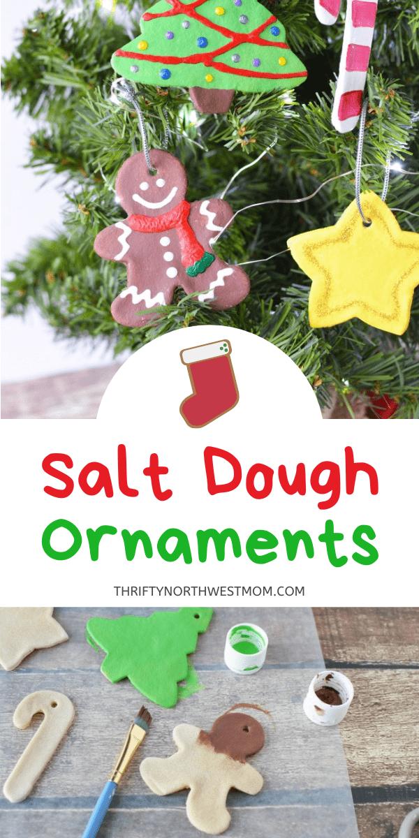 Salt Dough Ornaments on a Christmas Tree