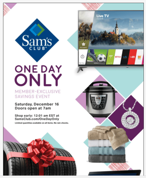 Sams Club One Day Only Event Tomorrow – TV Deals, Laptop Deals, Apple iPhone Deals, & More!