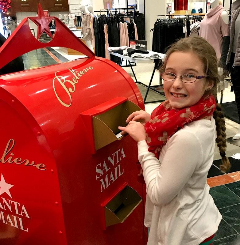 Santa Mailbox at Macys in Seattle