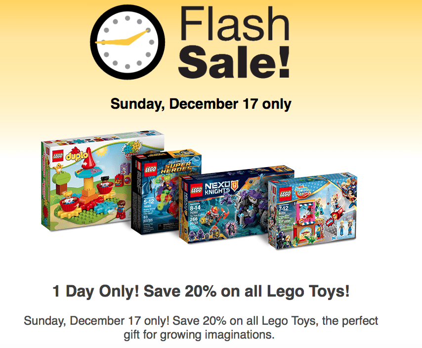 Fred Meyer Lego Sale – Flash Sale Today Only – 20% off All Legos
