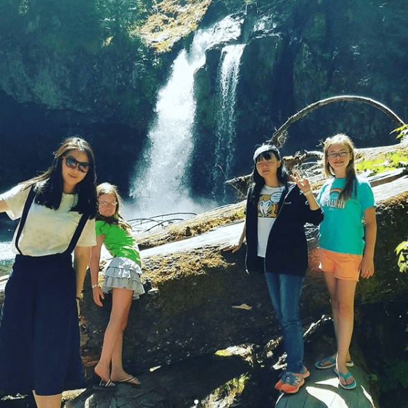 visiting waterfalls with Exchange Students